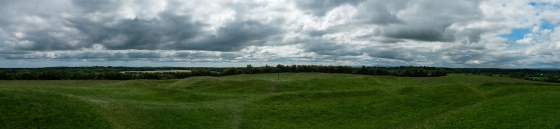 Panorama of the hill of Tara