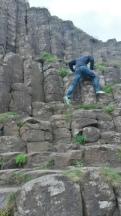 climbing basalt columns - over 10,000
